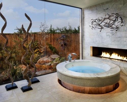 Design Ideas for A Bathroom Fireplace