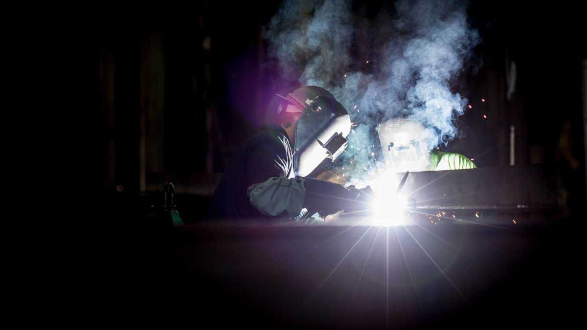 Welding in a dark environemnt